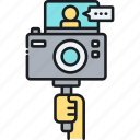 camera, logging, video, video logger, video logging, vlog, vlogging icon
