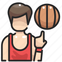 basketball, people, player, sport, sportive, sports, team icon