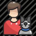 animal, avatar, boy, cat, people, pet icon