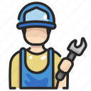 avatar, maintenance, people, repair, spanner, wrench icon