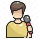 avatar, karaoke, musician, people, singer, singing, user icon