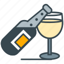 bottle, celebrate, champagne, glass, hobby icon