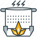 cook, eat, flame, food, hobby, pot icon