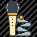 hobby, karaoke, microphone, music, sing icon