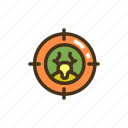aim, hunter, hunting, target icon