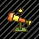 stargaze, stargazing, telescope icon