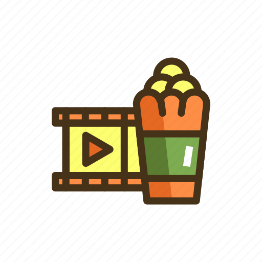 cinema, movies, popcorn, show, theater, theatre icon