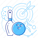 ball, bowling, game, pin icon