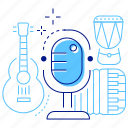 live performance, microphone, music, musical instruments icon