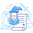 gaming, roleplaying games, script, wizard icon