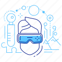 goggles, headset, virtual reality, vr icon