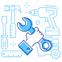 repair, service, tools, wrench icon