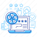 cinema, movie, online, reviews icon