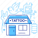 salon, shop, studio, tattoo icon