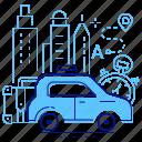 car, driving, service, taxi icon