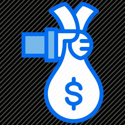 Bag, business, finance, hand, money icon - Download on Iconfinder