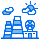 atomic, building, energy, nuclear, plant, power icon