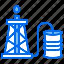 barrel, energy, oil, petroleum, production, pump icon