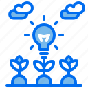 electric, energy, lamp, plant, renewable icon