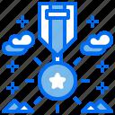 award, medal, military, reward, star icon