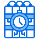 bomb, clock, military, time, weapon icon
