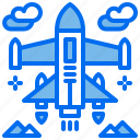 aircraft, jet, military, plane icon