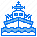military, ship, transport, weapon icon