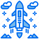 aircraft, jet, military, plane, rocket icon