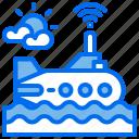 military, submarine, transport icon