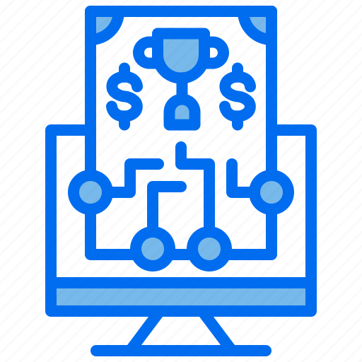 Business, computer, investment, money, route, trophy icon - Download on Iconfinder