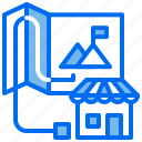 business, location, map, office, store, target icon