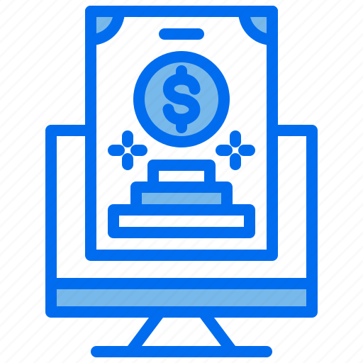 business, computer, finance, goal, money icon