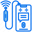 business, meeting, message, phone, wifi icon