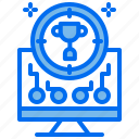 achievement, business, computer, inspect, target, trophy icon