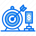 brick, business, goal, money, startup, target