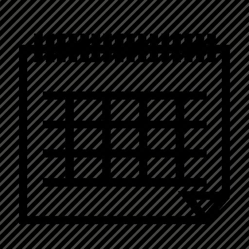 calendar, holiday icon