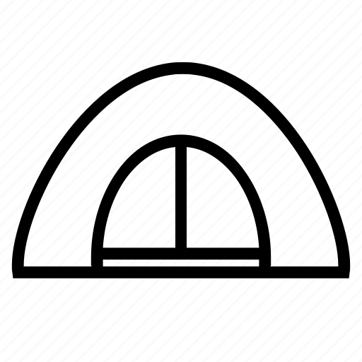 adventure, hiking, tent icon