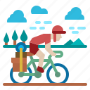bike, cycling, parks, travel, traveling icon