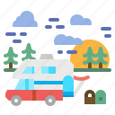 holiday, motorhome, transportation, trip, vacation icon
