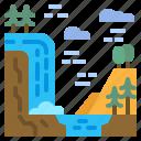 landscape, nature, scene, scenery, waterfall