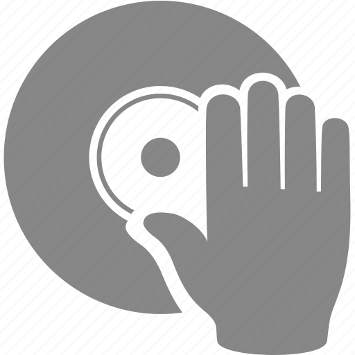dj, hand, music, play, sound, vinyl icon