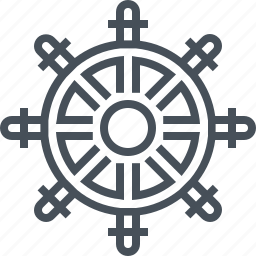 boat, direction, ocean, sailing, sea, steering wheel, wheel icon