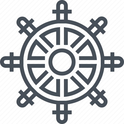 boat, direction, ocean, sailing, sea, steering wheel, wheel icon
