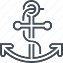 anchor, holiday, navigation, ship, stop icon