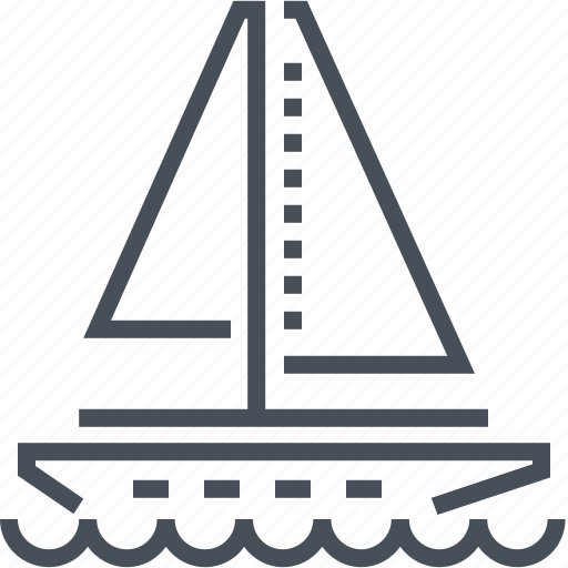 boat, navigation, sail, sailboat, sea, transport icon