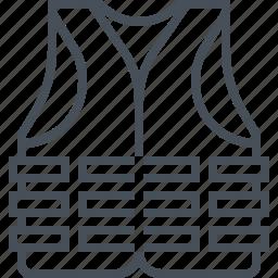 jacket, life, life buoy, life vest, presever, vest icon
