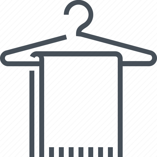 bath, bathroom, dry, hanger, illustration, towel, wiping icon