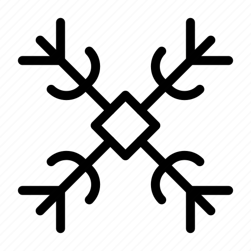 christmas, flake, ice, snow, winter icon