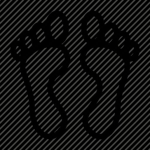body, foot, footsteps, organs, soak icon
