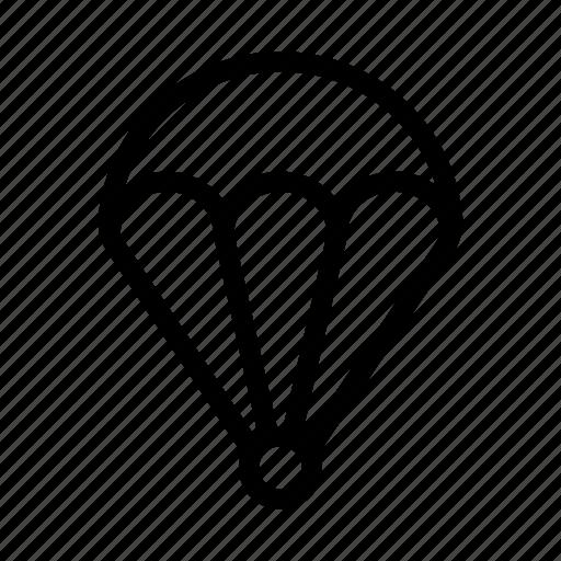 airballoon, fly, landing, parachute, travel icon